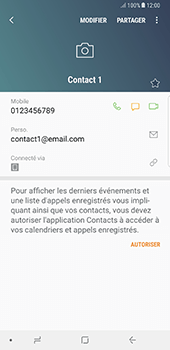 Samsung Galaxy Note 8 - Contact, Appels, SMS/MMS - Ajouter un contact - Étape 13