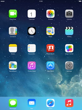 Apple iPad 4th generation iOS 7 - Internet - Popular sites - Step 1