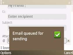 Nokia E72 - Email - Sending an email message - Step 15