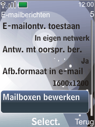Nokia 7210 supernova - E-mail - Handmatig instellen - Stap 7