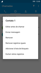 Lenovo Vibe K6 - Chamadas - Como bloquear chamadas de um número específico - Etapa 7
