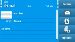 Nokia N97 - E-mail - envoyer un e-mail - Étape 9