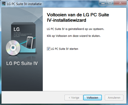 LG Spirit (H420F) - Software - Download en installeer PC synchronisatie software - Stap 8