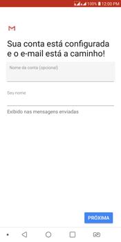 LG K12+ - Email - Como configurar seu celular para receber e enviar e-mails - Etapa 14