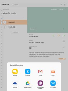 Samsung Galaxy Tab S2 9.7 - Android Nougat - Contacten en data - Contacten overzetten via Bluetooth - Stap 8