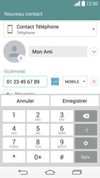 LG D855 G3 - Contact, Appels, SMS/MMS - Ajouter un contact - Étape 7
