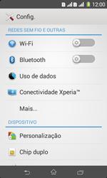 Sony D2105 Xperia E1 Dual - Wi-Fi - Como configurar uma rede wi fi - Etapa 4