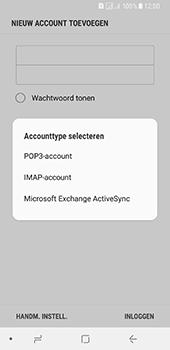 Samsung Galaxy A8 (2018) - E-mail - e-mail instellen: IMAP (aanbevolen) - Stap 9