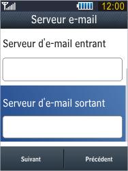 Samsung B3410 Star Qwerty - E-mail - Configuration manuelle - Étape 15