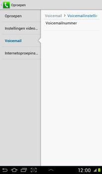 Samsung P3100 Galaxy Tab 2 7-0 - Voicemail - handmatig instellen - Stap 7
