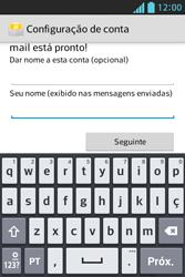 LG E612 Optimus L5 - Email - Como configurar seu celular para receber e enviar e-mails - Etapa 10