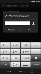 Sony C6603 Xperia Z - Voicemail - Handmatig instellen - Stap 8