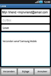 Samsung S5660 Galaxy Gio - E-mail - E-mails verzenden - Stap 7