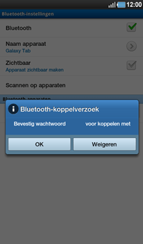 Samsung P1000 Galaxy Tab - Bluetooth - Headset, carkit verbinding - Stap 8