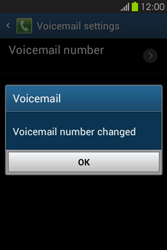 Samsung S6810P Galaxy Fame - Voicemail - Manual configuration - Step 9