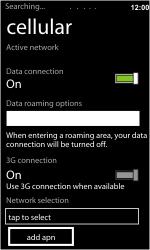 HTC 7 Trophy - Netwerk - gebruik in het buitenland - Stap 9
