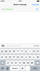 Apple iPhone 6 iOS 8 - Mensajería - Escribir y enviar un mensaje multimedia - Paso 7