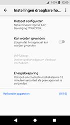Sony Xperia XA2 (H3113) - WiFi - Mobiele hotspot instellen - Stap 7