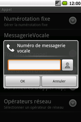 Samsung I5700 Galaxy Spica - Messagerie vocale - Configuration manuelle - Étape 6