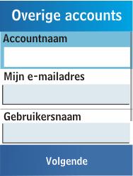Samsung C3300K - E-mail - Handmatig instellen - Stap 13