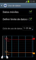 Samsung i8260 Galaxy Core - Internet - Ver uso de datos - Paso 11