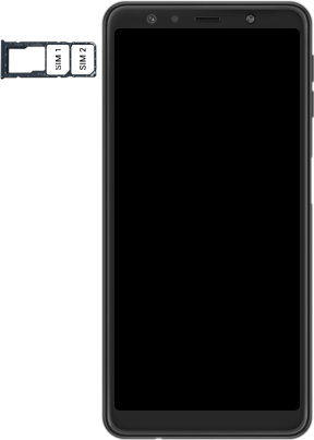 Samsung Galaxy A7 2018 - Premiers pas - Insérer la carte SIM - Étape 5
