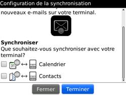 BlackBerry curve 3G - E-mails - Ajouter ou modifier un compte e-mail - Étape 12