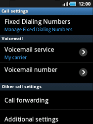 Samsung S5570 Galaxy Mini - Voicemail - Manual configuration - Step 5