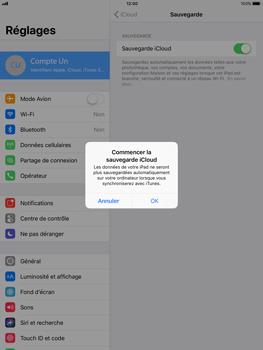 Apple iPad Air - iOS 11 - Device maintenance - Back up - Étape 12
