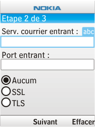 Nokia 6303i classic - E-mail - Configuration manuelle - Étape 9