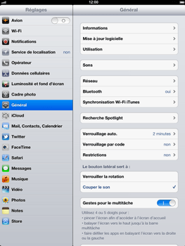 Apple iPad 2 - E-mail - Configurer l