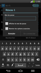 LG D955 G Flex - Wifi - configuration manuelle - Étape 7