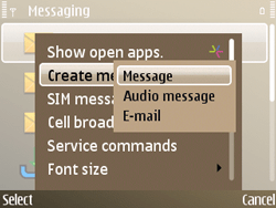 Nokia E72 - Mms - Sending a picture message - Step 4