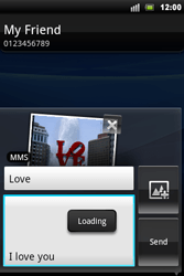 Sony Ericsson Xperia Mini Pro - Mms - Sending a picture message - Step 12