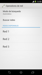 Sony Xperia M2 - Red - Seleccionar una red - Paso 8