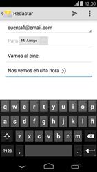 Motorola Moto X (2ª Gen) - E-mail - Escribir y enviar un correo electrónico - Paso 9