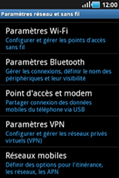 Samsung Galaxy Ace - Internet et connexion - Désactiver la connexion Internet - Étape 5