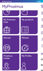 Nokia Lumia 625 - Applications - MyProximus - Step 20