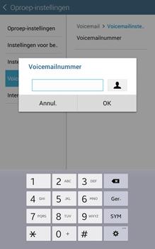 Samsung Galaxy Tab 4 (T335) - Voicemail - Handmatig instellen - Stap 9