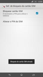 Sony Xperia E4 - Segurança - Como ativar o código PIN do cartão de telemóvel -  9
