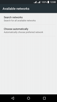 Acer Liquid Z630 - Network - Manually select a network - Step 8