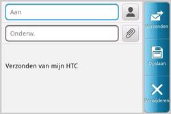HTC A810e ChaCha - E-mail - hoe te versturen - Stap 5