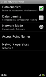 Acer Liquid Metal S120 - Network - Usage across the border - Step 11
