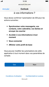 Apple iPhone 7 Plus iOS 11 - E-mail - Configuration manuelle (outlook) - Étape 8