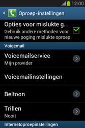 Samsung S6810P Galaxy Fame - Voicemail - handmatig instellen - Stap 7