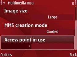 Nokia E63 - Mms - Manual configuration - Step 18