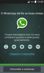 Samsung Galaxy J1 - Aplicações - Como configurar o WhatsApp -  5
