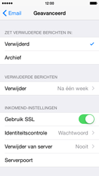 Apple iPhone 5 (Model A1429) met iOS 8 - E-mail - Handmatig instellen - Stap 23