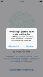 Apple iPhone 6s - iOS 11 - Aplicações - Como configurar o WhatsApp -  6
