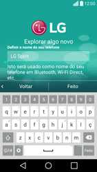 LG C70 / SPIRIT - Primeiros passos - Como ligar o telemóvel pela primeira vez -  16